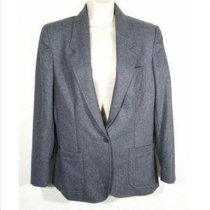 CHAUS Women Suit Blazer Jacket Wool Blend 1965E1M